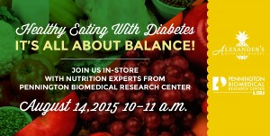 Eating Healthy with Diabetes Class @ Alexander's Highland Market cafe