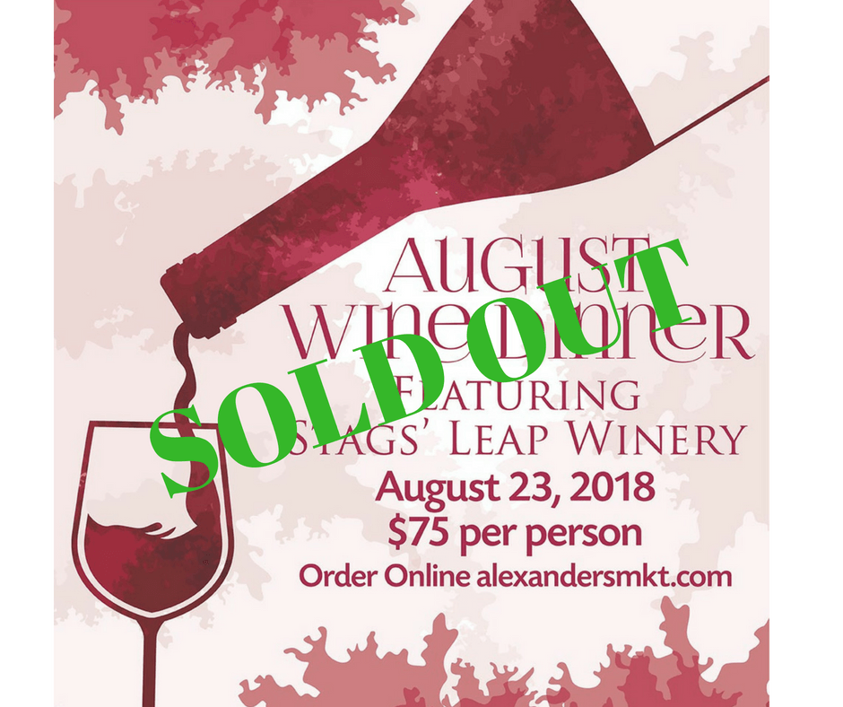 SOLD OUT Wine Dinner