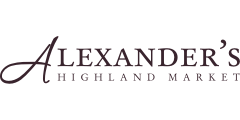 A theme logo of Alexander's Highland Market